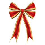Red ribbon. Isolated on white Royalty Free Stock Image