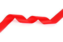 Red ribbon royalty free stock image