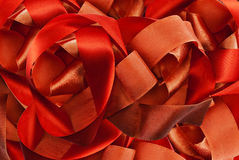 Red ribbon. Stock Photo