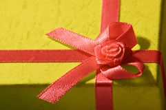 Red Ribbon. A Christmas present with a red ribbon Royalty Free Stock Images
