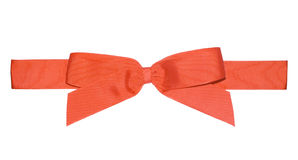 Red ribbon. With a bow for gifts Royalty Free Stock Photo
