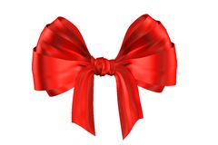 Red ribbon. Over white paper Royalty Free Stock Image