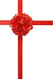 Red ribbon. Beautiful Red Ribbon isolated with clipping path Royalty Free Stock Photo