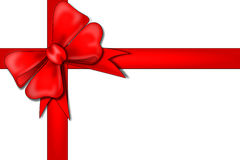 Red ribbon. An illustriation of a red ribbon over a white background royalty free stock photo