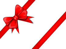 Red ribbon. An illustriation of a red ribbon over a white background Royalty Free Stock Image
