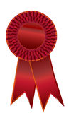 Red ribbon. Red prize ribbon for winner. eps8 vector included. Add your own text Royalty Free Stock Photography