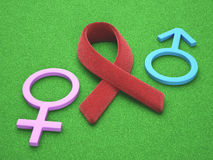 Red Ribbon AIDS Royalty Free Stock Photography