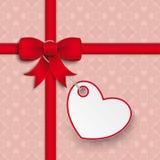 Red Ribbon Ash Heart Ornaments Royalty Free Stock Photos