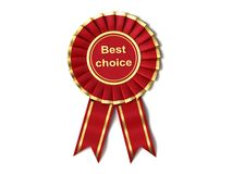 Red Ribbon Award Stock Image
