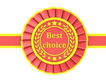 Red Ribbon Award Stock Photos