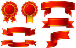 Red ribbon awards Stock Photos