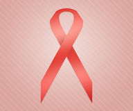 Red Ribbon Background. Red Ribbon on Red Background Royalty Free Stock Image
