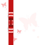 Red ribbon background Royalty Free Stock Photography