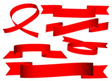 Red Ribbon Banner Stock Image