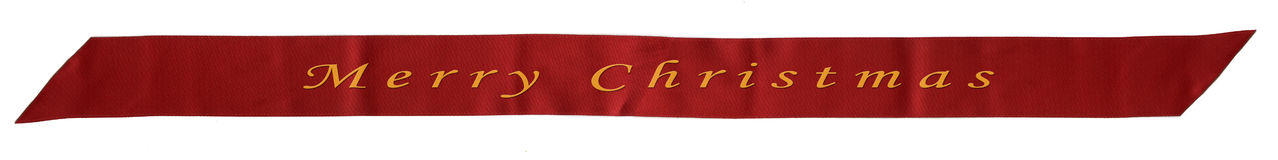 Red ribbon banner Stock Photo