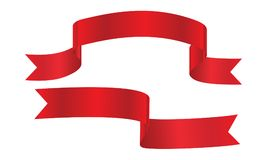 Red ribbon banners set. Decorative red ribbon banners set isolated on a white background Stock Images