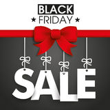 Red Ribbon Black Friday Sale Royalty Free Stock Photos