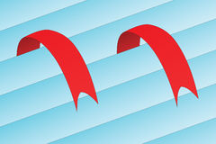 Red ribbon - bookmark Stock Photos