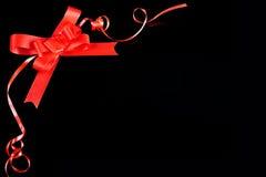 Red ribbon border Royalty Free Stock Photography