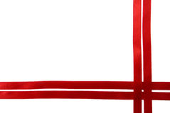 Red ribbon border Stock Image