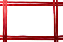 Red ribbon border Royalty Free Stock Image