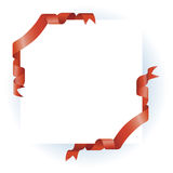 Red Ribbon Border Design Royalty Free Stock Photography