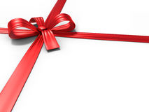 Red ribbon and bow Royalty Free Stock Image