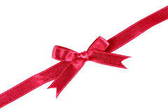 Red ribbon bow Stock Image