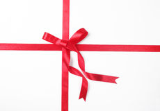 Red ribbon and bow Stock Photos