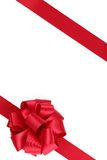 Red ribbon with bow Stock Photos