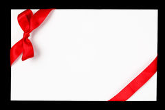 Red ribbon and bow. Isolated Stock Images