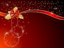 Red ribbon and bow. Illustration Stock Image