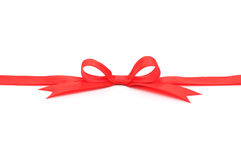 Red Ribbon & Bow Royalty Free Stock Photo