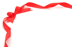 Red Ribbon & Bow Stock Image
