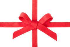Red ribbon with a bow Royalty Free Stock Image
