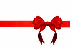 Red ribbon with bow Stock Images