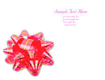 Red ribbon bow. Isolate red ribbon bow over white background Royalty Free Stock Photos