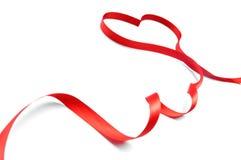 Red ribbon bow Royalty Free Stock Photos