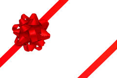 Red ribbon and bow Royalty Free Stock Images