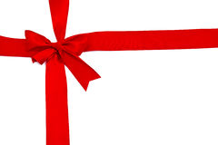 Red ribbon with bow Stock Photo