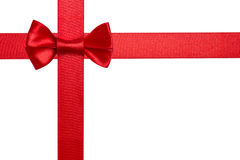 Red ribbon bow Stock Photo