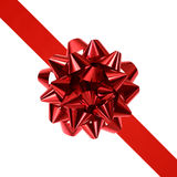 Red ribbon and bow Stock Photography
