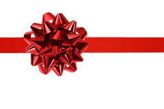 Red ribbon and bow Royalty Free Stock Photography