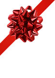 Red ribbon and bow Royalty Free Stock Photos