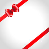 Red ribbon bow Stock Photography