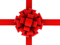 Red ribbon and bow. Royalty Free Stock Images