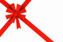 Red ribbon and bow. Stock Image