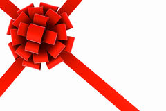 Red ribbon and bow. Stock Images