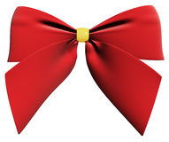 Red ribbon bow 3d render Stock Images