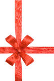Red ribbon with the bow Royalty Free Stock Photos